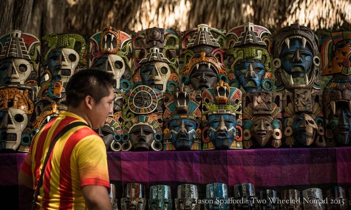 You'll be spoilt for choice if you'd like a mask at Chichen Itza