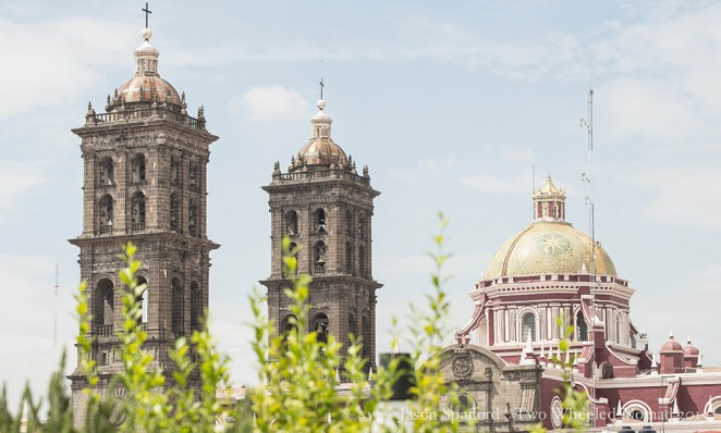 The two bell towers.