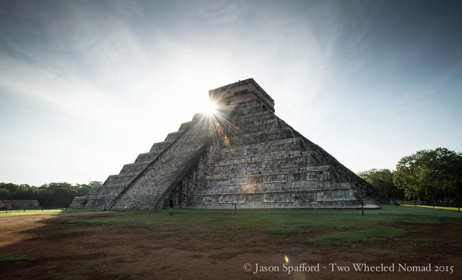 Chichen Itza beneath the sun's first smile