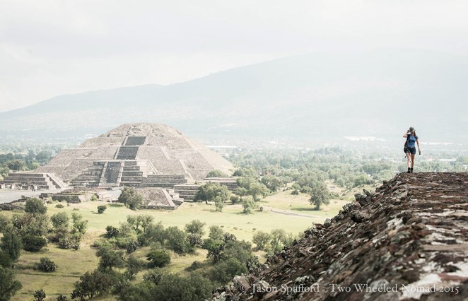 Impossible not to look out in awe at Teotihuacán