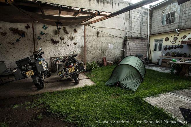 Love this snug corner of the campsite