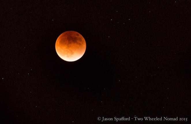 The lunar eclipse above