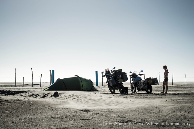Beach camping is a must on the Baja