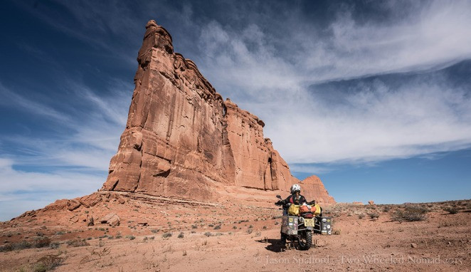 Falling over giant red rock formations...it can only be Canyonlands, Colorado