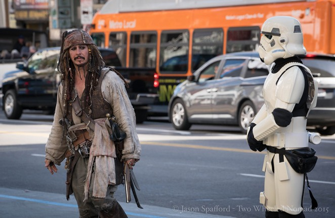 You'll meet all sorts on the road, including Captain Sparrow if you head to Hollywood