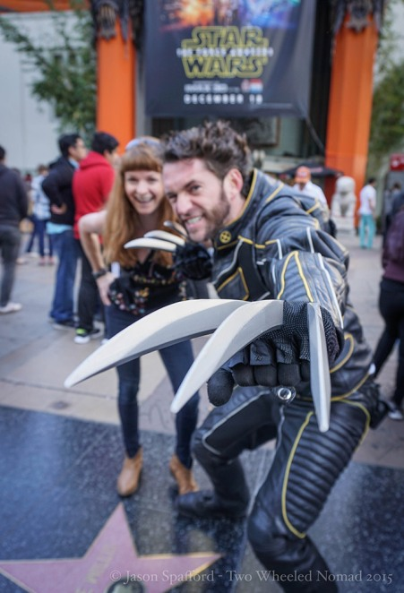 Getting my Hollywood on with the Wolverine--gotta be done on Hollywood Boulevard