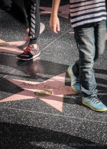 Did you know there are pink stars on the Walk of Fame for motion pictures, television, audio recording or music, radio and theatre/live performance..?