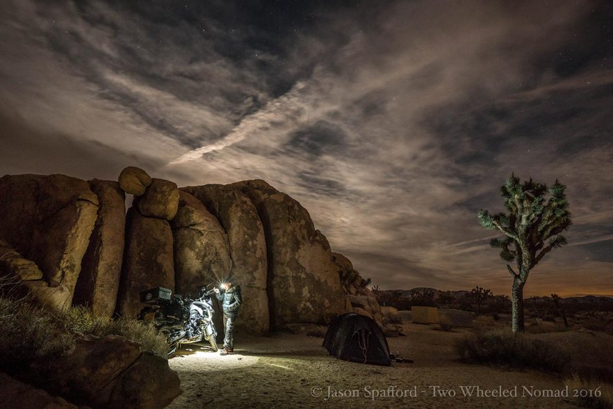 Enjoying the night skies at Joshua Tree National Park, perhaps for the final time.