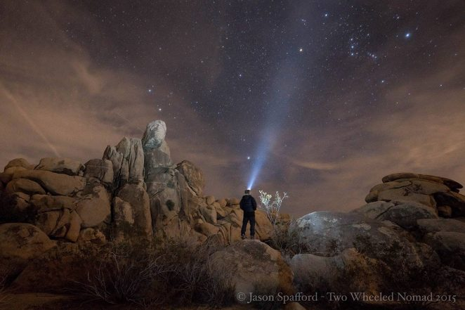 Absorbing the colours of a night sky. (Joshua Tree National Park, CA.)