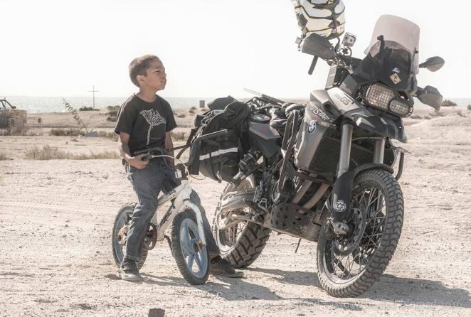 The boy's got his bike, and Jason's got his.