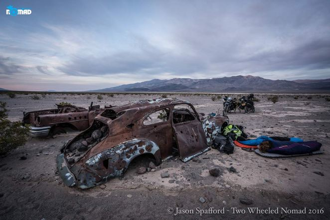 Laying down tired butts at Panamint Butte