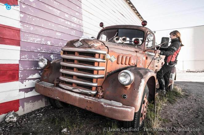 Old trucks are ten a rusting penny on Route 66
