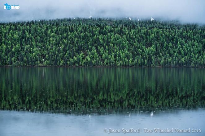 The mirror calm rivers of Hatcher's Pass, Palmer, AK.