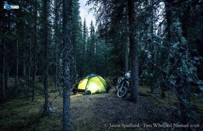Motorcycle campground, Tok, Alaska.