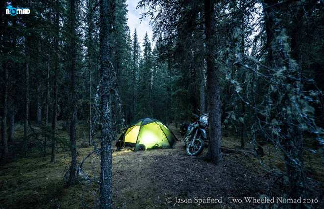 Motorcycle campground, Tok, Alaska.