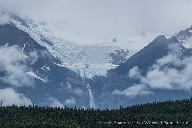 A hanging glacier on the Inside Passage (between Haines and Juneau).